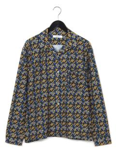 サイケ柄長袖シャツ