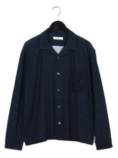 幾何学柄長袖シャツ