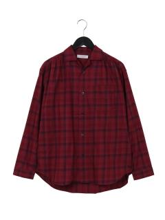 オーバーダイチェックシャツ