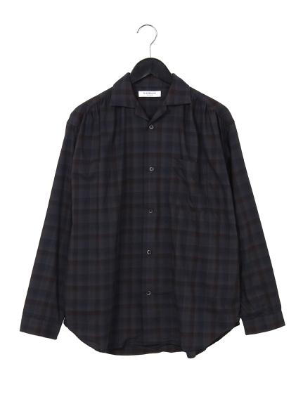 67%OFF CIAOPANIC (チャオパニック) オーバーダイチェックシャツ チャコールグレー