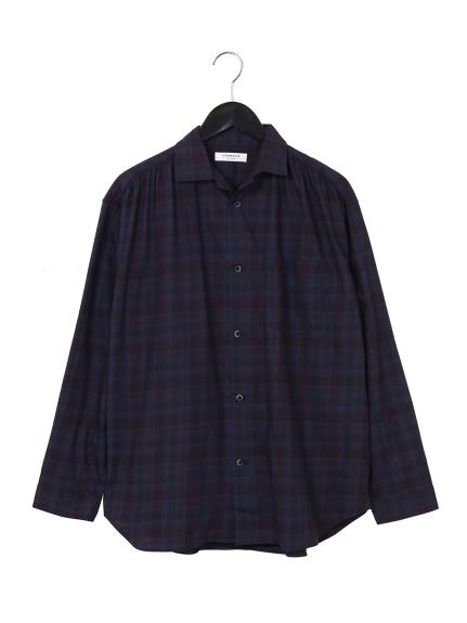 CIAOPANIC (チャオパニック) オーバーダイチェックシャツ ネイビー