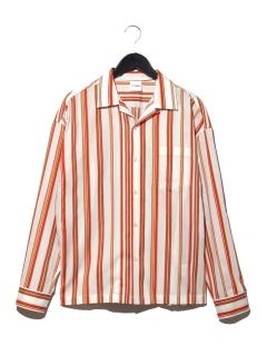 C/L/テンセルオープンカラーシャツ