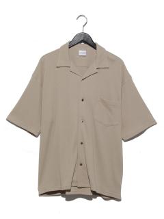 ワッフル開襟シャツ