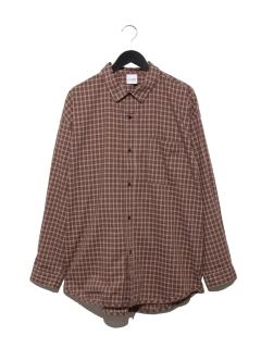 裾パイピングシャツLS