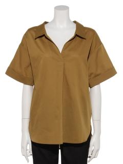 ・バックボタンチュニックシャツ