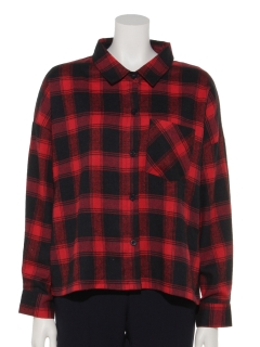 ・タータンチェックオーバーシャツ