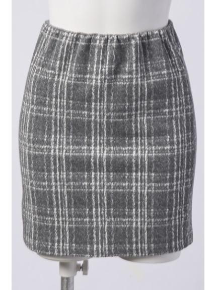 Delyle noir (デイライルノアール) チェックタイトスカート グレー