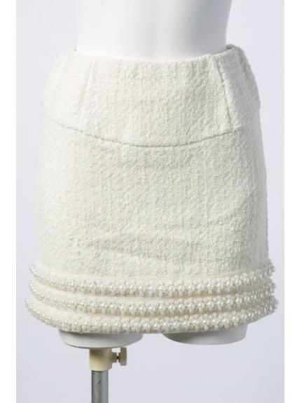 Delyle noir (デイライルノアール) ツィードスカート オフホワイト