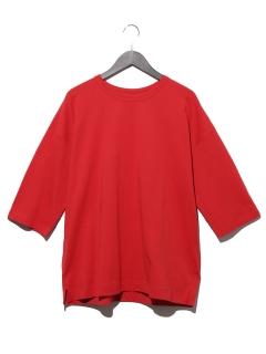 ヘビーコットン5分袖ビッグシルエットTシャツ