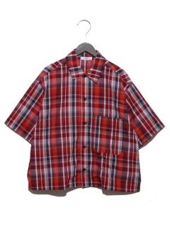 チェックルーズ半袖シャツ