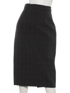 チェックリバーシブルタイトスカート