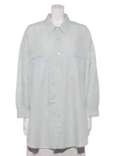 綿麻デニムビッグシャツ