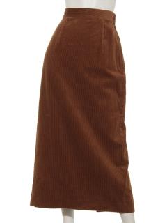 バックスリットコーデュロイロングスカート