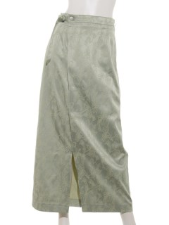 サテンジャガード花柄スカート