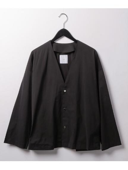 Lui's (ルイス) キュプラVカーデシャツ ブラック