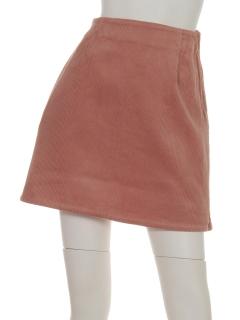 ・太コーデュロイ台形スカート