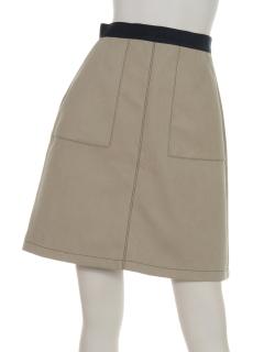 ・配色スカート