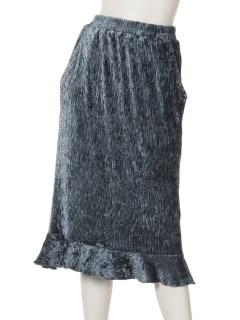 裾フリルベロアスカート