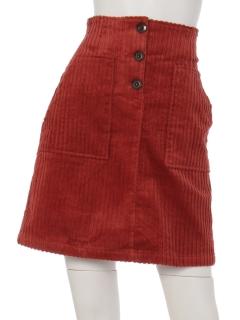 ・太コーディロイ台形スカート