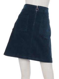 ・別珍前ポケットスカート