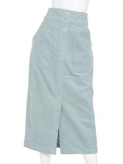 前釦コーデュロイタイトスカート