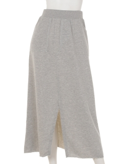 ラメ裏毛ロングスカート