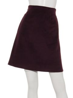 起毛台形スカート