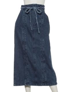 フリンジリボンデニムスカート