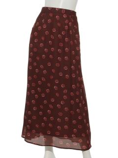 レトロフラワーマーメイドスカート