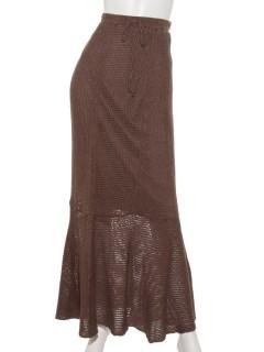 カギ針ニットマーメイドスカート