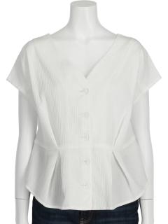 フレンチタックペプラムシャツ