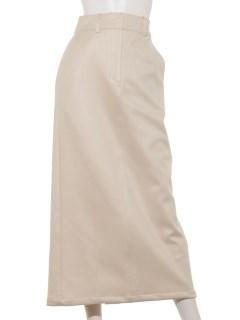 エンボススエードタイトスカート
