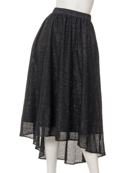 Omekashi (オメカシ) フリンジフレアスカート ブラック