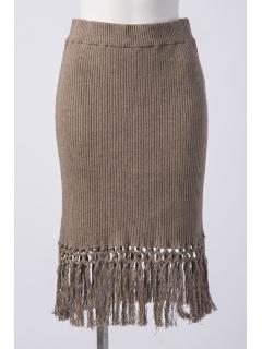 マクラメフリンジRIBスカート