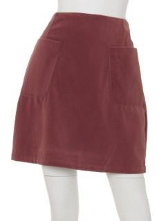 ベロア台形スカート