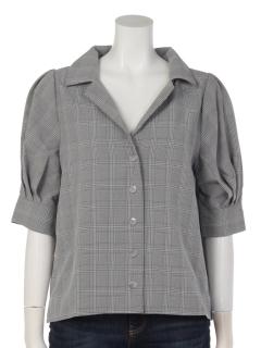 ボリューム袖開襟シャツ