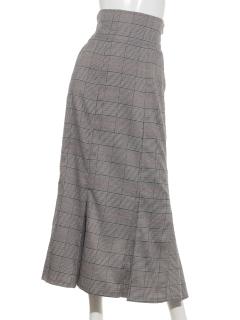 グレンチェックマーメイドタイトスカート