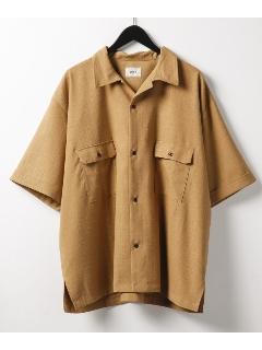 エステルオープンカラーシャツ