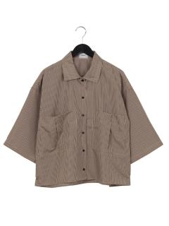 ・チェックビッグポケットシャツショート