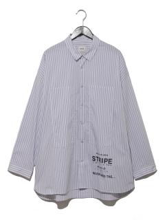ストライププリントビッグシャツ