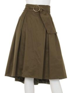ラップフリルフレアースカート