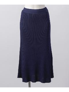 リブフレアースカート