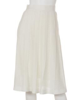 透かし柄フレアースカート