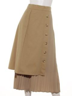 チノレイヤードプリーツスカート