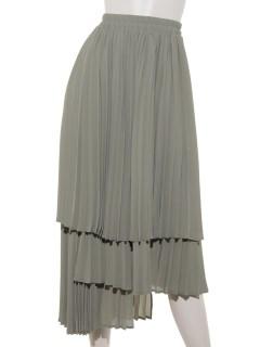 レイヤードプリーツスカート
