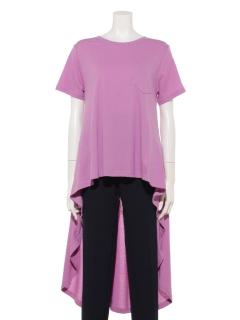 バック刺繍フィッシュテールTシャツ