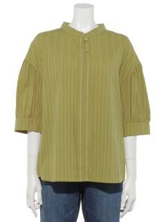 スキッパーボリューム袖シャツ