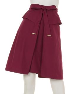 ペプラムリボンBOXスカート
