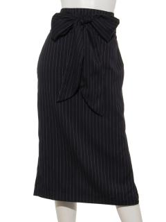 ストライプロングタイトスカート