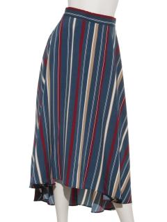 ストライプサーキュラースカート